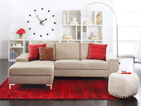 Oregon Chaise Sectional - Khaki | | Featured on Scandinavian Simplicity at http://eclecticnarwhal.com/scandinavian-simplicity/