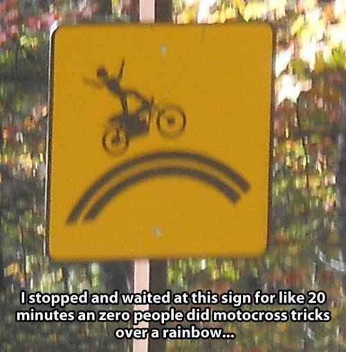 Road signs. They're doing it right.