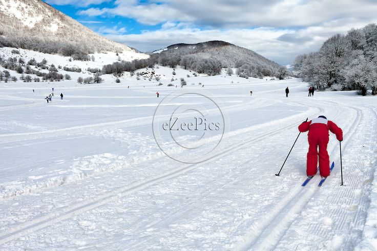 Country-cross skier on the heights of mountain Majella in Abruzzi, Italy. #eZeePics