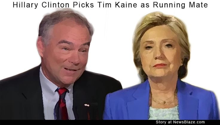 Story: Hillary Clinton Picks Tim Kaine as Running Mate - by Mina Fabulous - Is Tim Kaine the Right Running Mate for Hillary Clinton? Democratic presidential candidate Hillary Clinton today named Tim Kaine, a prominent senator from Virginia, as her running mate for the November election.  The announcement was made via text message to her supporters. Mrs. Clinton's... #Politics