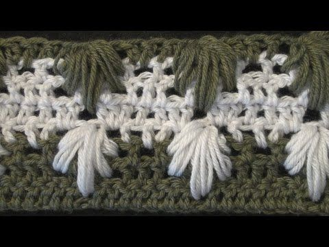 """Extreme Crochet Drop Stitch. """"This stitch is easier than what it looks. I am recommending a chain of 136+12 as a starting point for a baby afghan. The multiple is 8. You will increase in increments of 8 for a larger blanket. This is the same stitch I used with my hat a few weeks ago so you could make a matching scarf and hat."""" -CrochetGeek"""