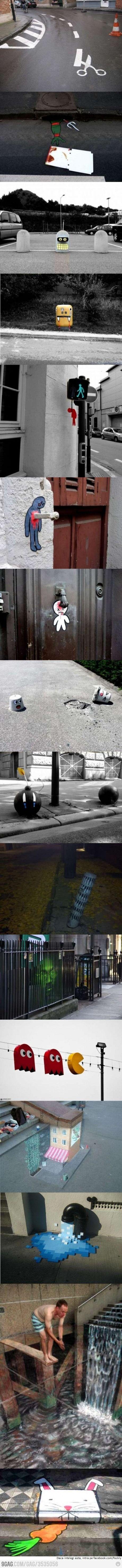 Street-Art [ninja] [égoûts] [évacuation] [réseaux d'aux, électricité, internet] [capter] [desservir] [lignes] [téléphonie] [câble] [prise] [centrales