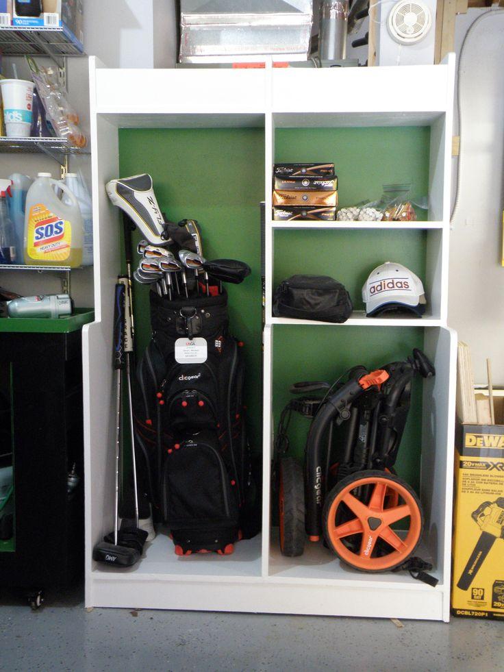 Golf Equipment Storage Locker Handmade From 3/4 Plywood