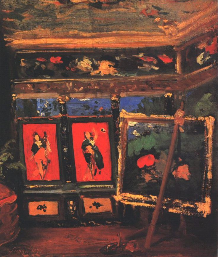 The Artists Studio by Pál Szinyei Merse