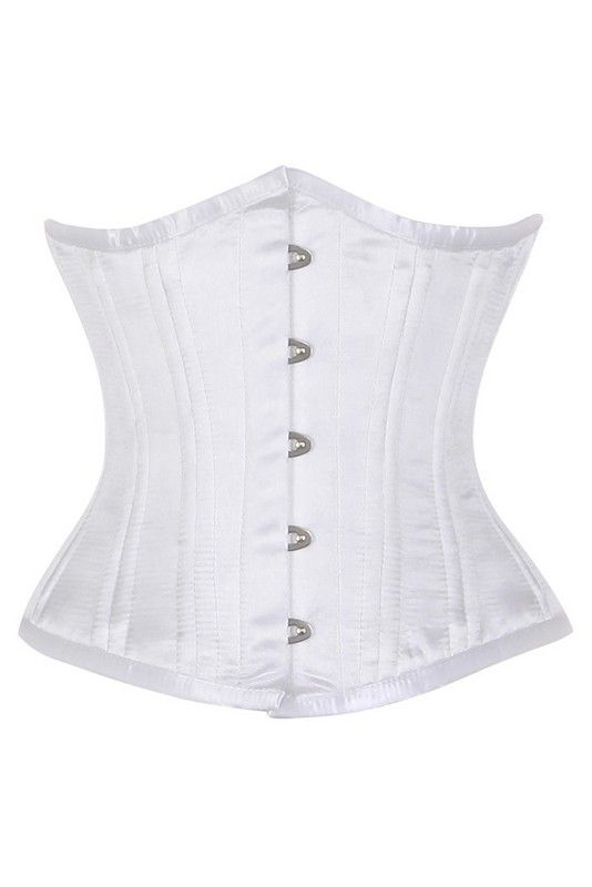 Waisttrain corset wit satijn - Ladywear Exclusieve Lingerie