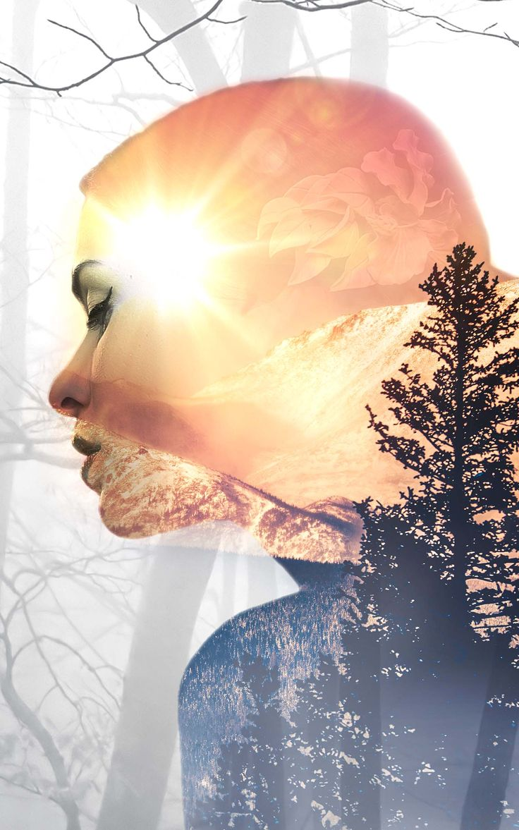 Double Exposure using Stock Imagery