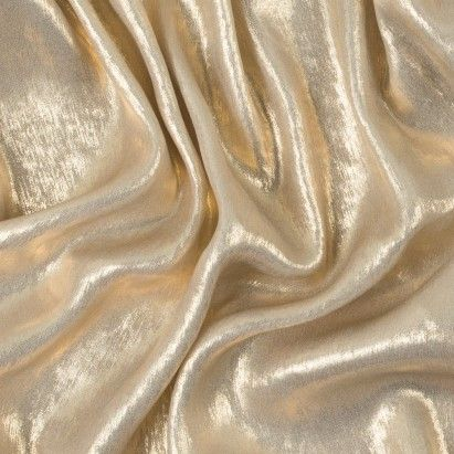 New! Metallic Gold Polyester Lame Fabric by the Yard | Mood Fabrics