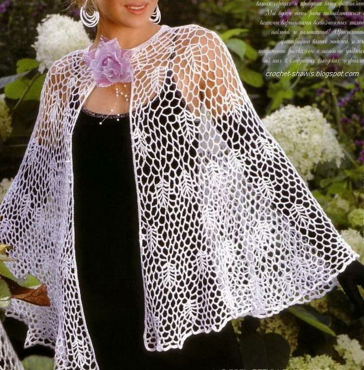 Free Crochet Patterns For Ladies Capes : 627 best images about Wonderful Wearables on Pinterest ...