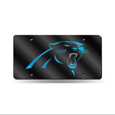 Carolina Panthers Primary Logo License Plate Tag in Black, Multicolor