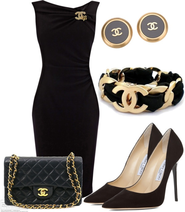"""""""LBD with Chanel Accessories"""" by stay-at-home-mom on Polyvore ...//md"""