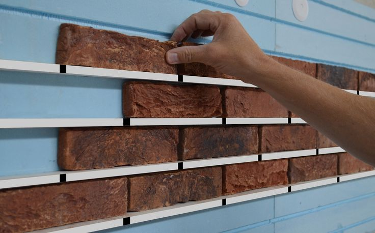 Sustainable external insulation system based on brick slip facade | XPS insulation boards no cold bridges EasylationWall | bricks slip system EWIS Cladding