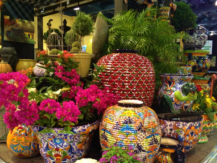 Bouganvilla and Ixora filled Talavera