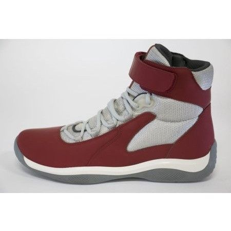 Prada Mens Vit.Rubber + Bik Rosso/Silver 4T2964-F0011 - Size 7.5 (US 8.5)