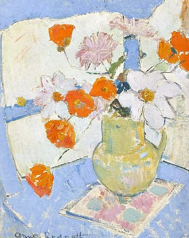 stilllifequickheart:    Anne Redpath  Poppies and Daisies  1943-47