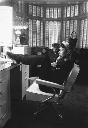 Audrey Hepburn, effortlessly stylish as always.