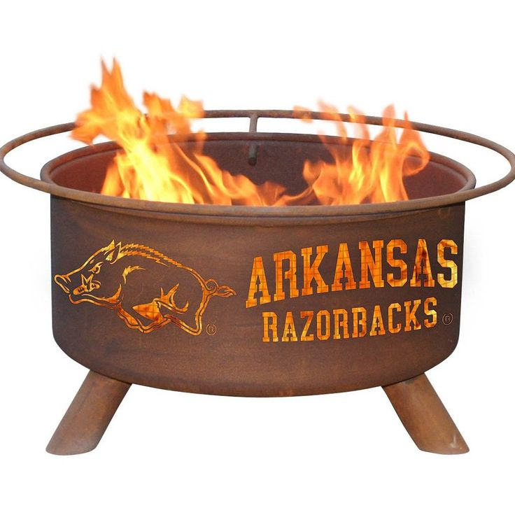 Arkansas Razorbacks Patio Fire Pit & BBQ Grill Set