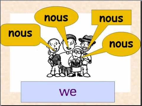 Learn French subject pronouns