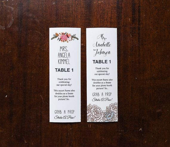 21 best Photo Booth Inserts/Escort/Place cards images on Pinterest ...