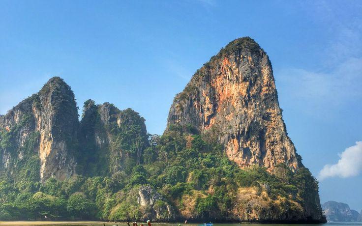 Rock Climbing the Cliffs of Railay Beach in Krabi, Thailand