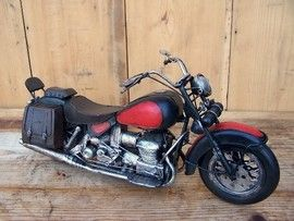 Machete motociclete retro - Harley rosu
