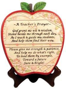 "Teachers Valentine Gift Ideas Teacher Apple Plaque ""A Teacher's Prayer"" Teacher's plaque with the message: "" ""God grant me wit & wisdom, Stand beside me through each day,..... http://awsomegadgetsandtoysforgirlsandboys.com/teachers-valentine-gift-ideas/ Teachers Valentine Gift Ideas"