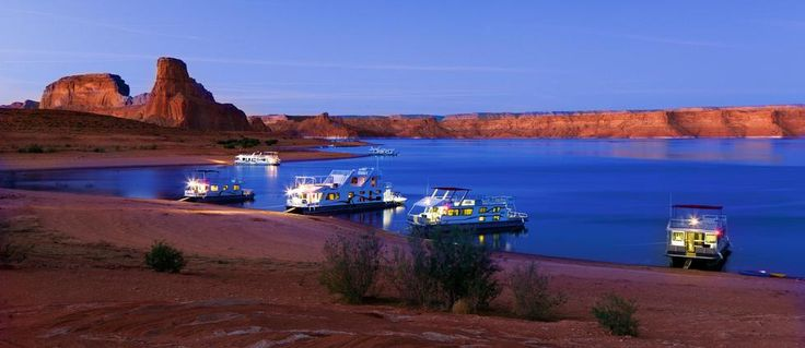 Houseboat vacation with the family. Lake Powell or somewhere.
