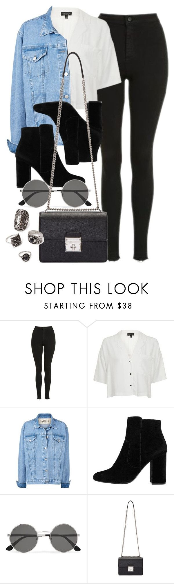 """""""Style #11629"""" by vany-alvarado ❤ liked on Polyvore featuring Topshop, MANGO, Yves Saint Laurent, Dolce&Gabbana and Forever 21"""