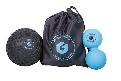 Massage Ball Set  Includes Deep Tissue Foam Massage Ball and Peanut Double Lacrosse Ball  for Trigger Point Therapy Myofascial Release Muscle Knots Yoga Crossfit Self Massage and Mobility WOD ** More info could be found at the image url.