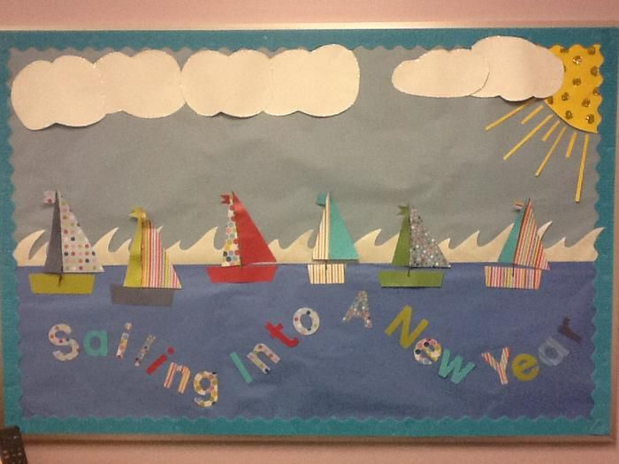 Sailing Into A New Year! - Nautical Back-To-School Bulletin Board