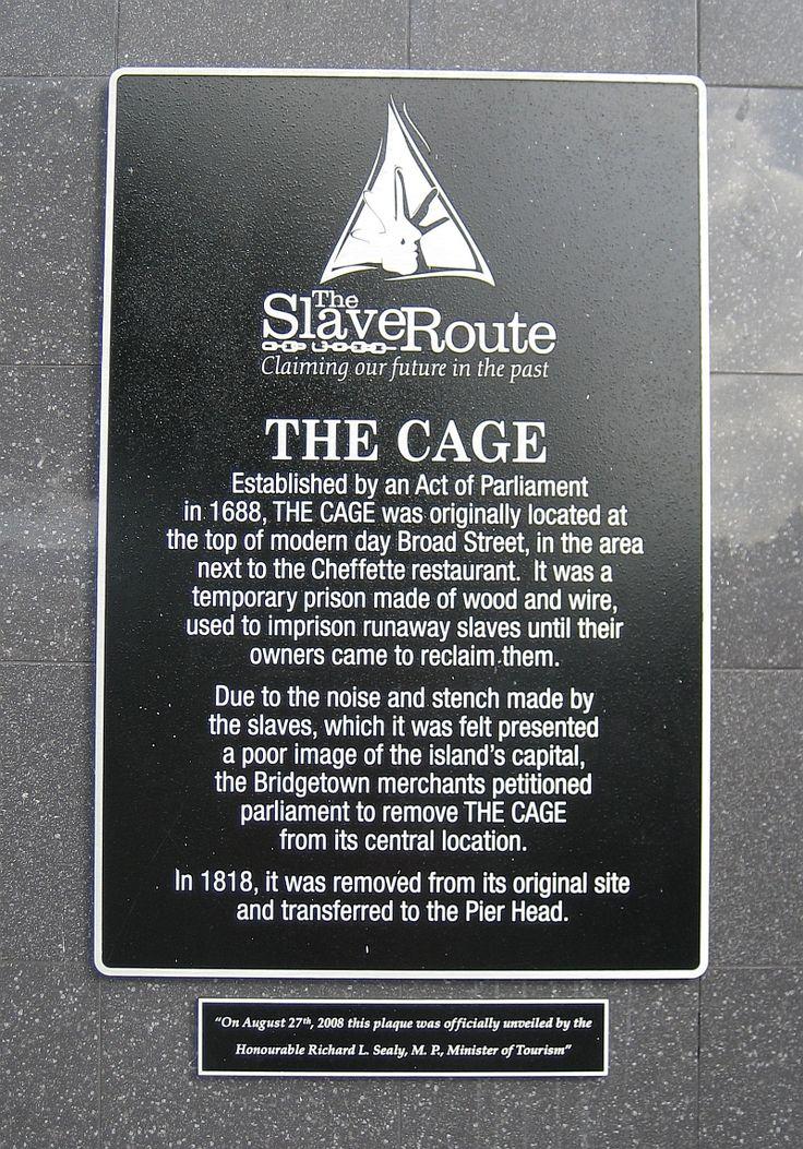 The Cage plaque in Bridgetown, #Barbados.