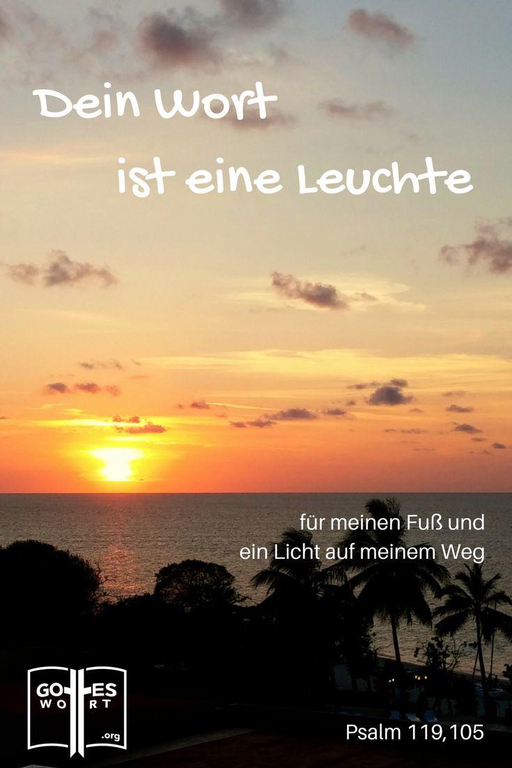 Dein Wort ist meines Fußes Leuchte und ein Licht auf meinem Weg. Psalm 119,105   (Kuba, Sonnenuntergang)  Mehr: http://www.gottes-wort.com/berichte.html