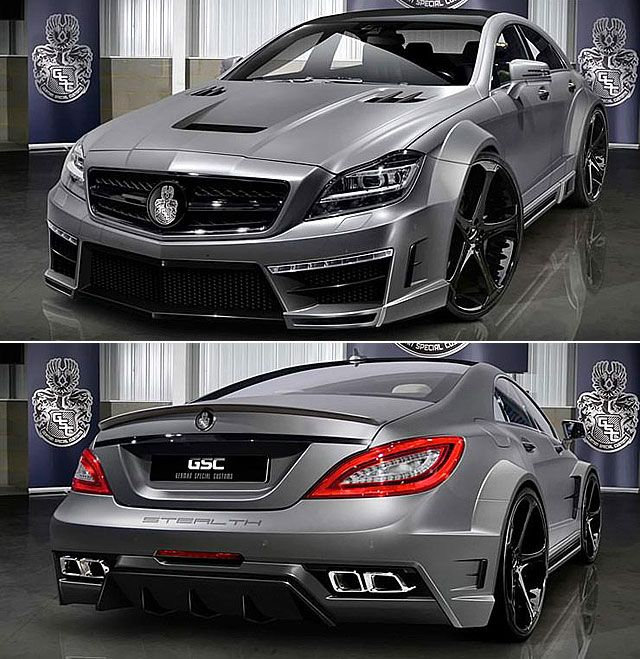 Badass Mercedes Benz Cls 63 Amg Stealth By Gsc Mercedes Benz