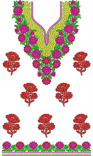 Bold Gold Paisley Tunic Embroidery Designs