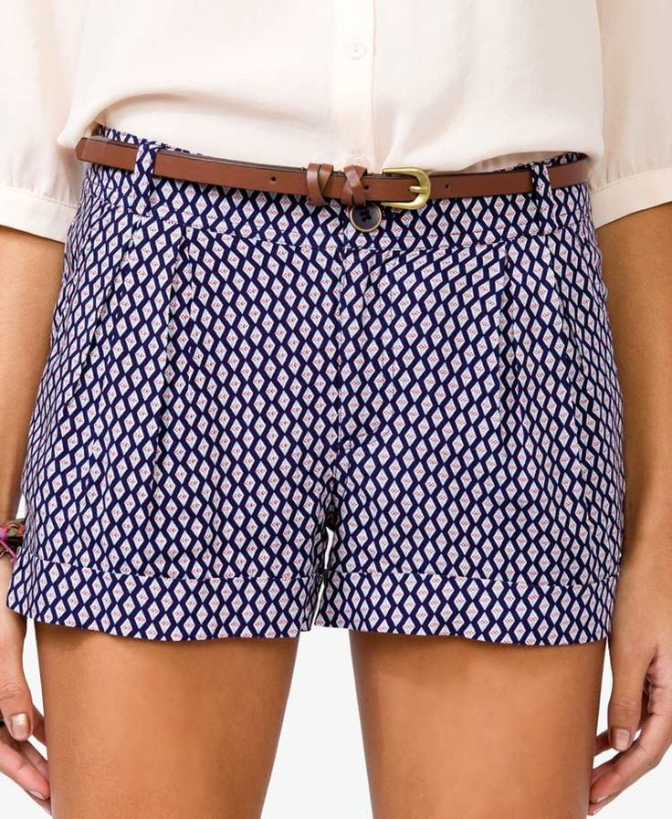 Mix up your wardrobe with some fun patterned shorts!