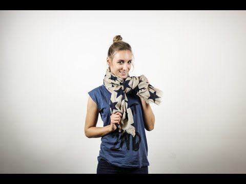 Echarpes & Foulards - Méthodes / Scarf bows method [Woolhouse] - YouTube