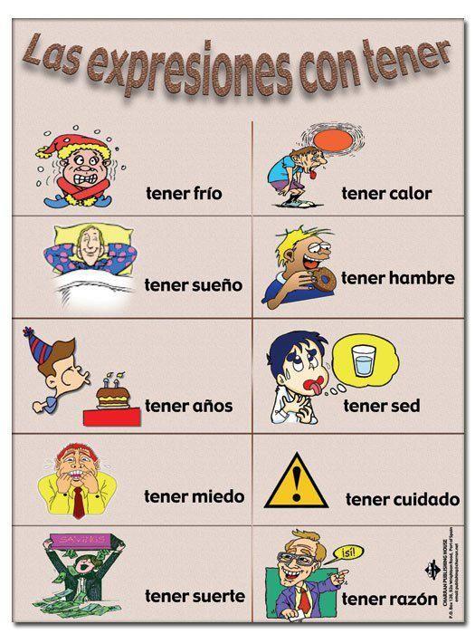 """Expresiones con el verbo """"Tener"""".-"""