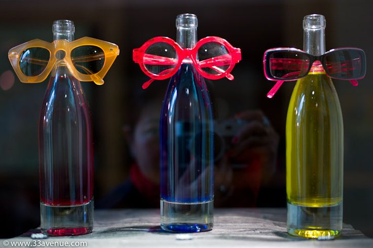 bottles as #eyeglass display. #merchandising