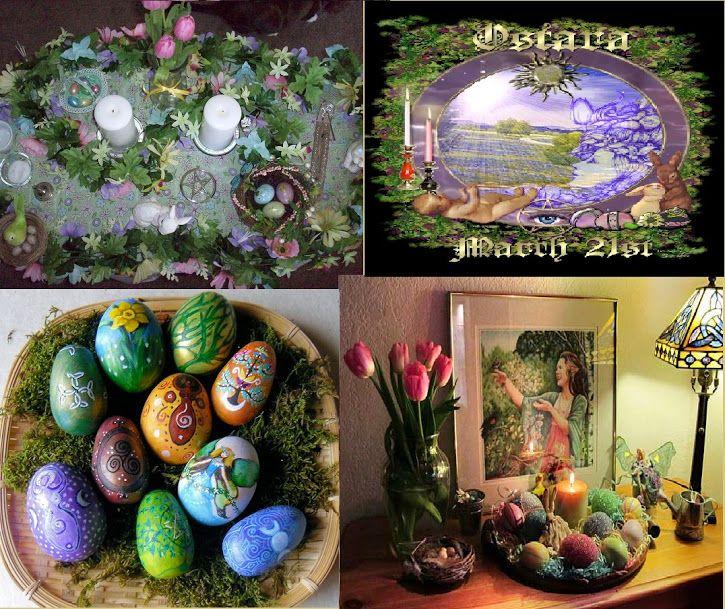 Em Ostara (também chamado Equinócio de Primavera) comemora-se o primeiro dia de Primavera. Na natureza tudo desabrocha: a Deusa cobre...