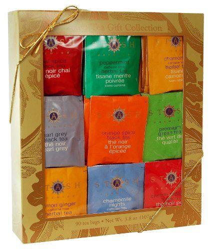 Stash Tea Company Gold Leaf Nine Flavor Gift Box - http://mygourmetgifts.com/stash-tea-company-gold-leaf-nine-flavor-gift-box/