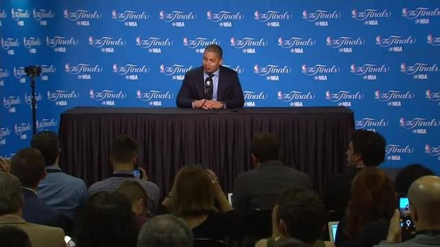 Ahead of Game 1 in the #NBAFinals, we're LIVE with Coach Ty Lue of the Cleveland Cavaliers!