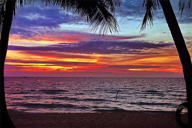 Beautiful sunset in Bali.