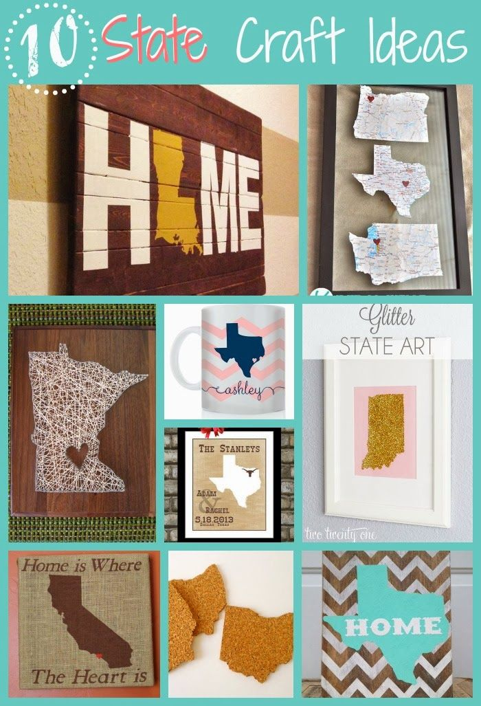 Silhouette School: Free State Fonts/Stencils for Silhouette {and 10 fabulous State Craft Ideas}