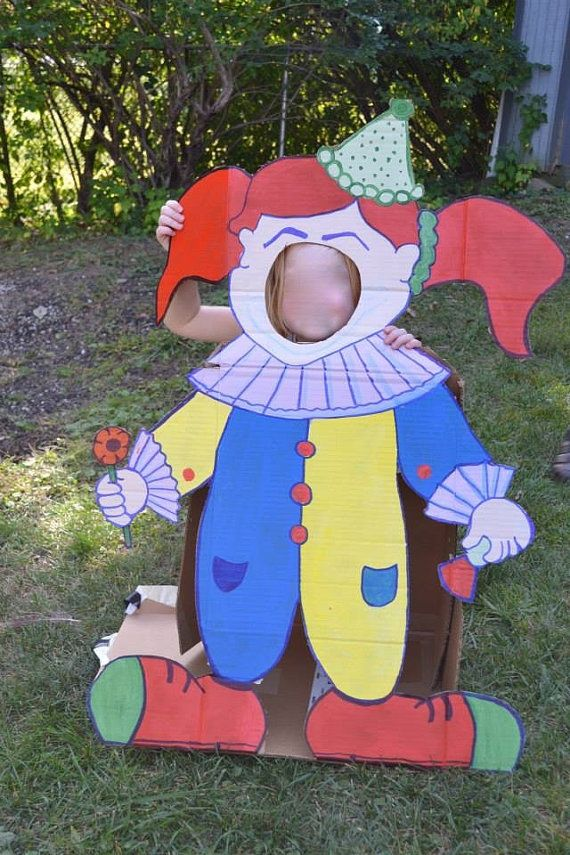 Carnival Theme Party . Clown Cutouts . by LittleGoobers on Etsy