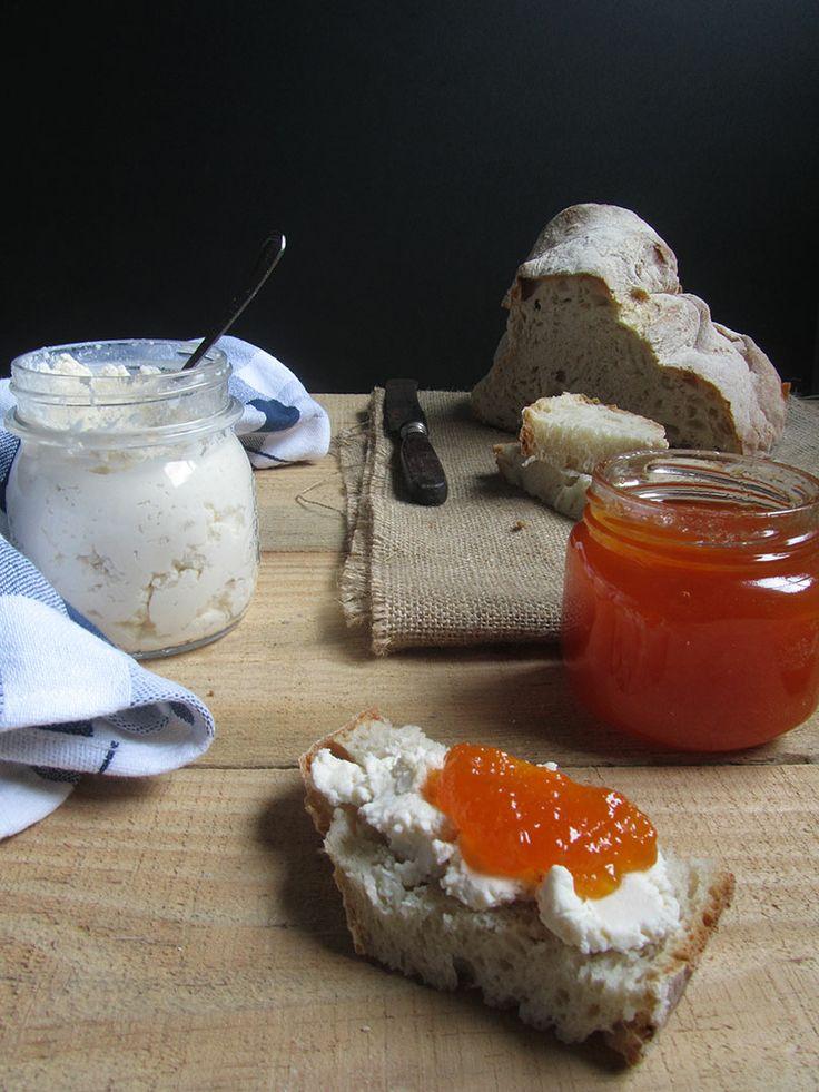 homemade ricotta and orange squash jam | Hungry | Pinterest