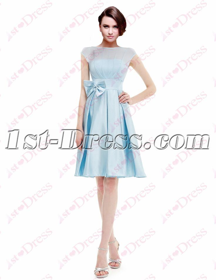 1st-dress.com Offers High Quality Sweet Modest Sky Blue Homecoming Gown,Priced At Only US$125.00 (Free Shipping)