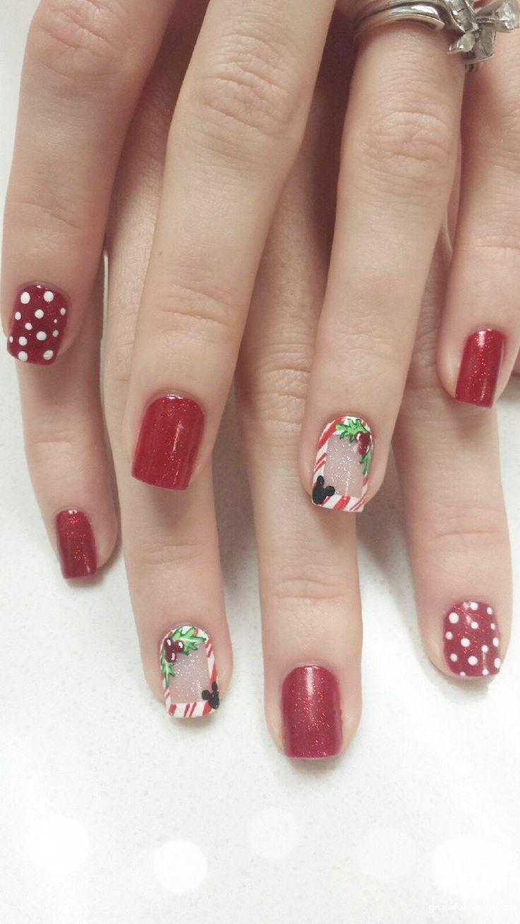 disney nails merry christmas
