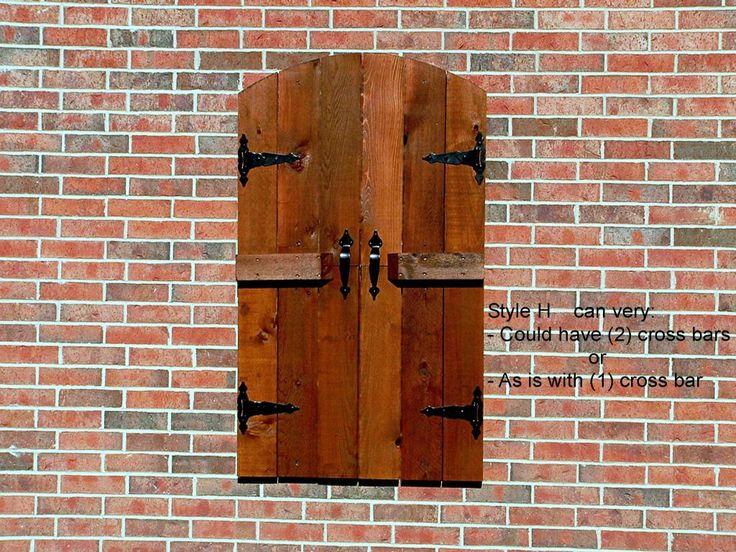 Best 25 fake windows ideas on pinterest fireplace redo - Exterior wood shutters for windows ...