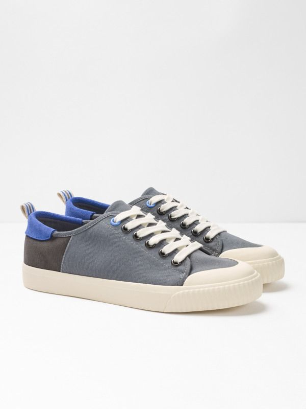 Lisa Lace Up Trainer (Grey) | White
