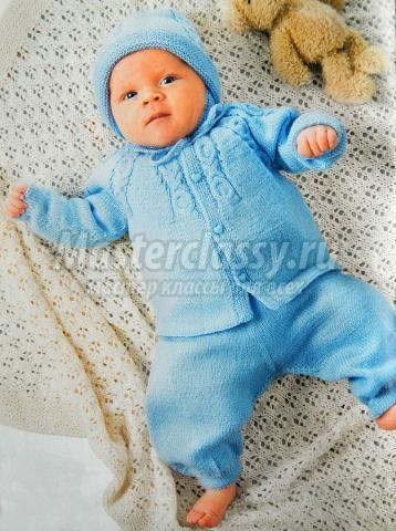 как связать комплект для новорожденного спицами мастер-класс с пошаговым фото