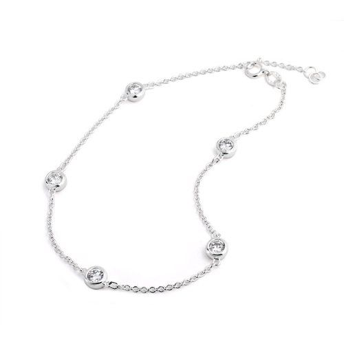 sterling anklet bracelet with bracelets ball ankle chain silver inch